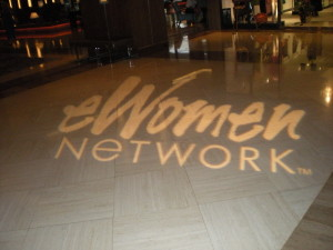 eWomen Network lit signage in the hotel, Dallas Texas 2013